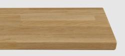Massivholz-Treppenstufe, Eiche stabverleimt A/B, ca. 40mm, gerade/gewendelt