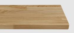 Massivholz-Treppenstufe, Wildeiche stabverleimt, naturbunt und kleinastig, ca. 40mm, gerade/gewendelt