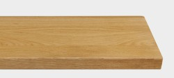 Massivholz-Treppenstufe, Eiche blockverleimt A/B, ca. 40mm, gerade/gewendelt