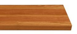 Massivholz-Treppenstufe, Jatoba blockverleimt A/B, gerade, ca. 30mm