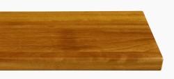 Massivholz-Treppenstufe, Kambala blockverleimt A/B, ca. 40mm, gerade/gewendelt