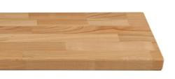 Massivholz-Treppenstufe, Kirsche stabverleimt A/B, gerade, ca. 40mm