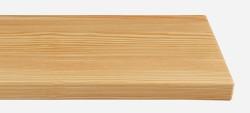 Massivholz-Treppenstufe, Lärche blockverleimt A/B, ca. 50mm, gerade/gewendelt