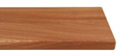 Massivholz-Treppenstufe, Mahagoni blockverleimt A/B, ca. 40mm, gerade/gewendelt