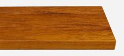 Massivholz-Treppenstufe, Merbau blockverleimt A/B, gerade, ca. 40mm