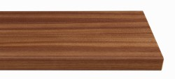 Massivholz-Treppenstufe, ami Nussbaum blockverleimt A/B, gerade, ca. 30mm