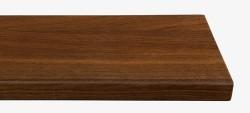 Massivholz-Treppenstufe, Räuchereiche blockverleimt A/B, ca. 50mm, gerade/gewendelt