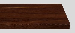 Massivholz-Treppenstufe, Wenge blockverleimt A/B, gerade, ca. 30mm